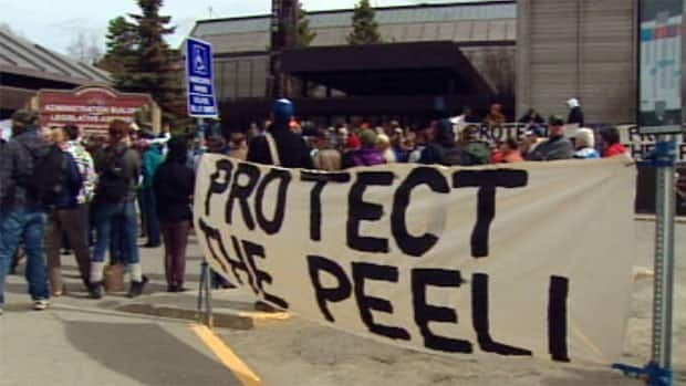 More than 100 Yukoners concerned about the Peel Watershed rallied outside the legislature Thursday on the last day of the spring sitting.