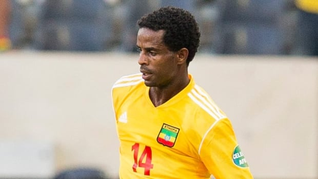 Beyene Minyahile, shown in this file photo, had acquired two yellow cards ahead of Ethiopia's game on June 8 against Botswana.