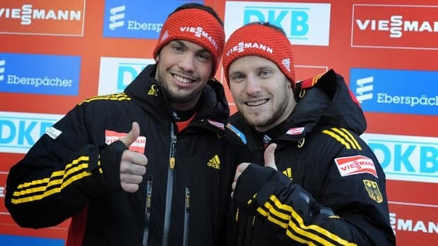German Tobias Wendl, left, and Tobias Arlt, shown in this file photo, picked up their fifth-straight World Cup win on Saturday.