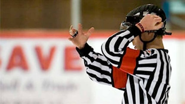 The Interlake Minor Hockey Association said the decision to ban was made due to safety concerns of referees.