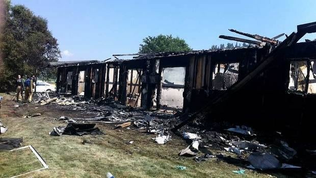 Five units at the Highlands Retirement Residence were destroyed by fire Monday morning.