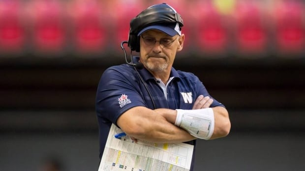 Winnipeg Blue Bombers' offensive coordinator and quarterbacks coach Gary Crowton during a game against the B.C. Lions in Vancouver, B.C., on Monday August 5, 2013.