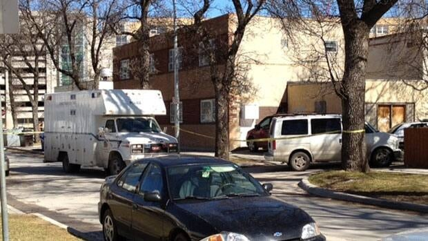 A back lane in Winnipeg's Notre Dame area is the focus of a police investigation into a suspicious find.