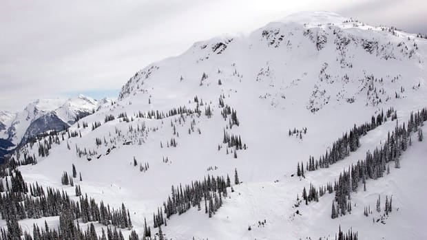 The avalanche struck in the Ghost Peak area south of Revelstoke, B.C. on Sunday.