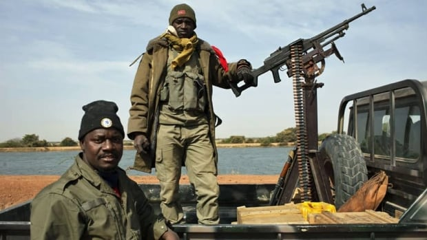 Malian forces, seen here in the town of Diably on Jan. 26, have been on a two-week offensive with the French army against Islamist rebels who seized the northern half of the country last year.