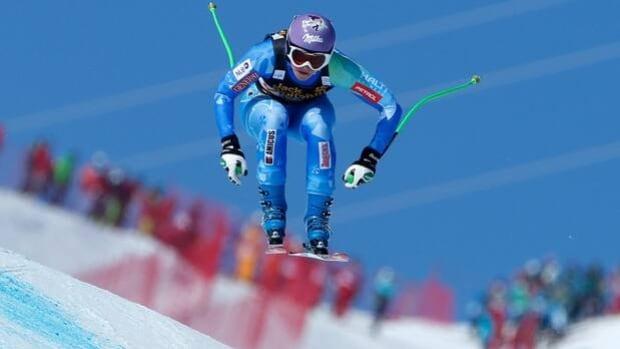 Tina Maze was swiftest in training Thursday at Garmisch-Partenkirchen, Germany.