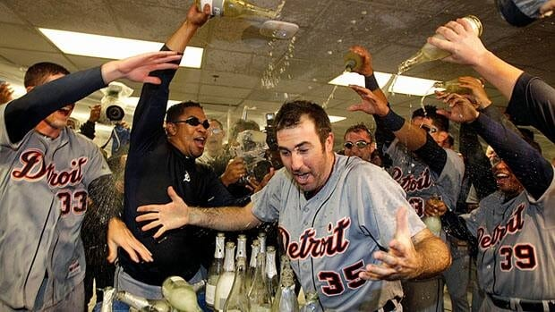 The Tigers beat the Oakland A's 6-0 Thursday night to move onto the American League Championship Series.