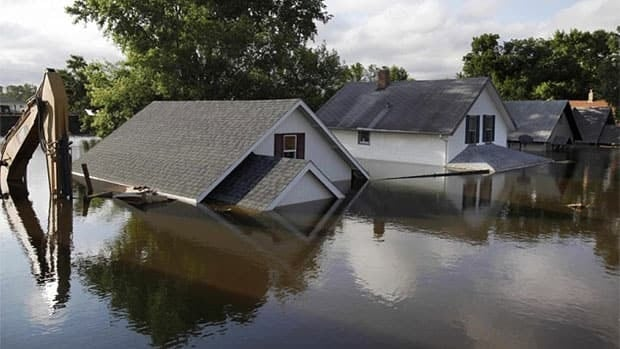 North Dakota was hit hard by flooding in 2011, like these homes in Minot, N.D.