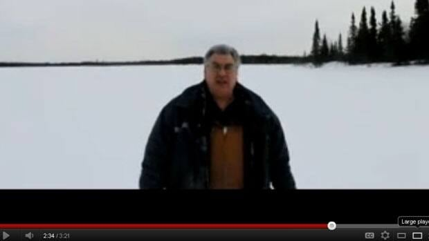 KI First Nations Chief Donny Morris has set up camp near his community's burial grounds in protest of pending drilling by God's Lake Resources. He posted his opinions on Youtube.