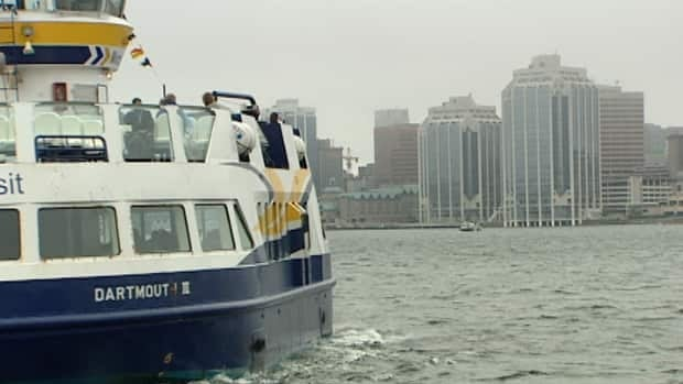 On weeknights the ferry runs until  10: 30 p.m. It links downtown Halifax and downtown Dartmouth.