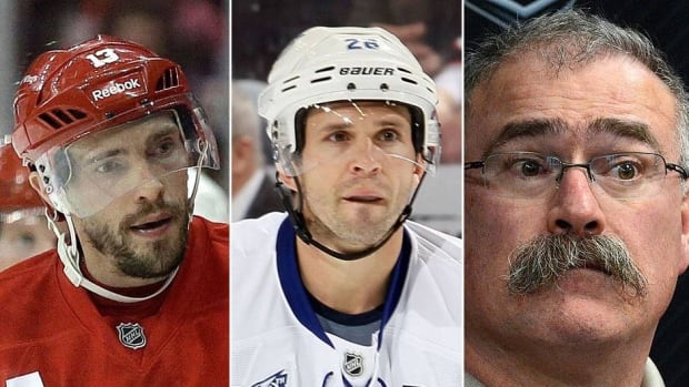 From left, the Red Wings' Pavel Datsyuk, Lightning's Martin St. Louis and Senators head coach Paul MacLean are up for 2013 NHL awards on Friday. Awards will be handed out over two days, replacing the most recent one-night show from Las Vegas.