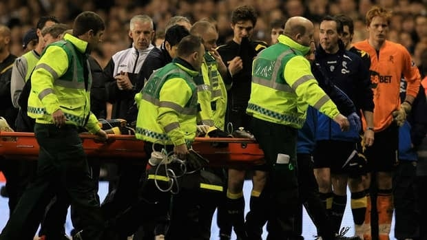 Fabrice Muamba of Bolton Wanderers collapsed during an FA Cup quarter-final match against Tottenham on March 17.
