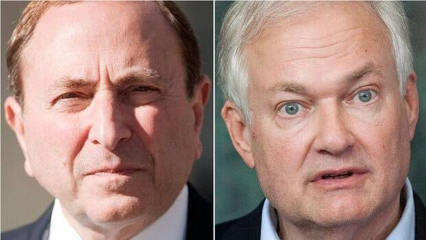 NHL commissioner Gary Bettman, left, and Donald Fehr, executive director of the NHLPA, met for four consecutive days of talks ending Friday.