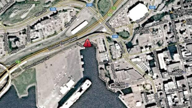 The body was found near Long Wharf not far from Uptown Saint John.