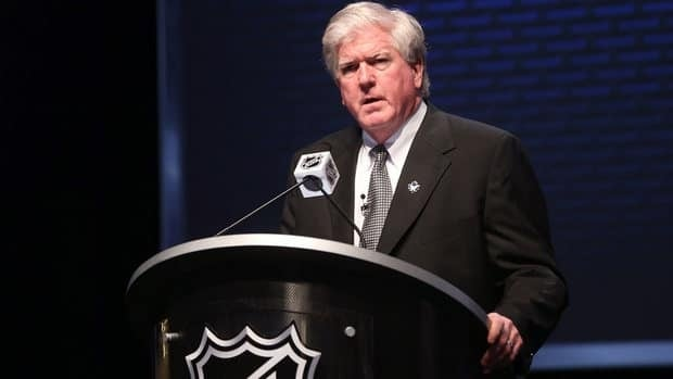 Brian Burke, shown in this file photo, thanked the current and former owners of the team, as well as his staff, players and former coach Ron Wilson for their effort during his four-year tenure.