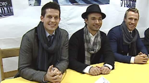 The Canadian Tenors meet fans at Fred's Records in St. John's for their album release.