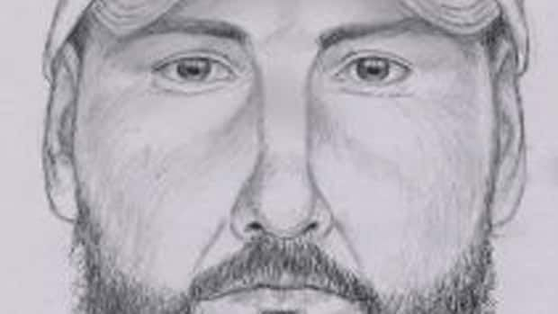 RCMP have released a sketch of the suspect in an effort to identify him.