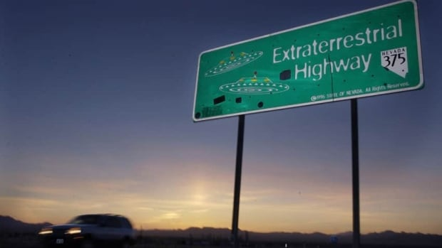 A car moves along the Extraterrestrial Highway near Rachel, Nev. The CIA is acknowledging the existence of Area 51 in newly declassified documents.