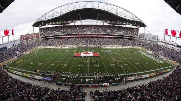 The field at the Winnipeg Blue Bombers' new stadium, Investors Group Field, just before kickoff in the team's regular-season opener against the Montreal Alouettes on Thursday.
