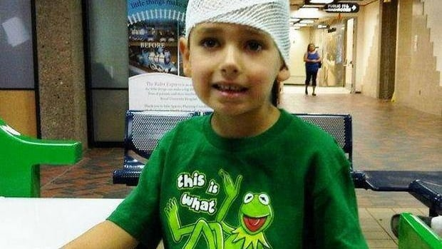 Tyler Puetz, 6, died from a cancerous brain tumour nine months after being diagnosed.