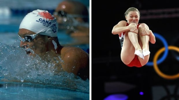 Alex Baumann, left, and Rosie MacLeannan both brought home gold medals for Canada on Aug. 4.