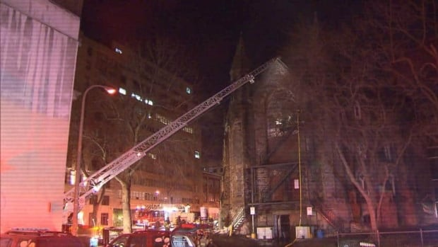 An early-morning fire broke out in the historic downtown church.