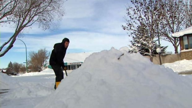 People in Regina have been shovelling since autumn thanks to a record-setting snowfall.