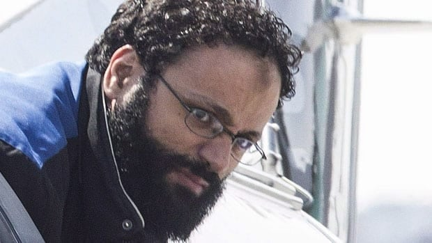 Chiheb Esseghaier is accused of helping to plot a terror attack involving a Via Rail train. He appeared in a Toronto court Monday by video link.
