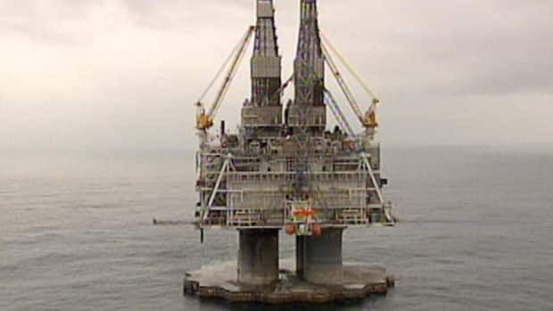 The Hebron project is expected to drill about 32 kilometres southeast of the Hibernia offshore oil production platform pictured here.