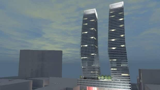 The proposed 48-storey Skye Halifax buildings were designed to resemble boat sails