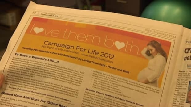 This ad from PEI Right to Life appeared in the local newspaper.