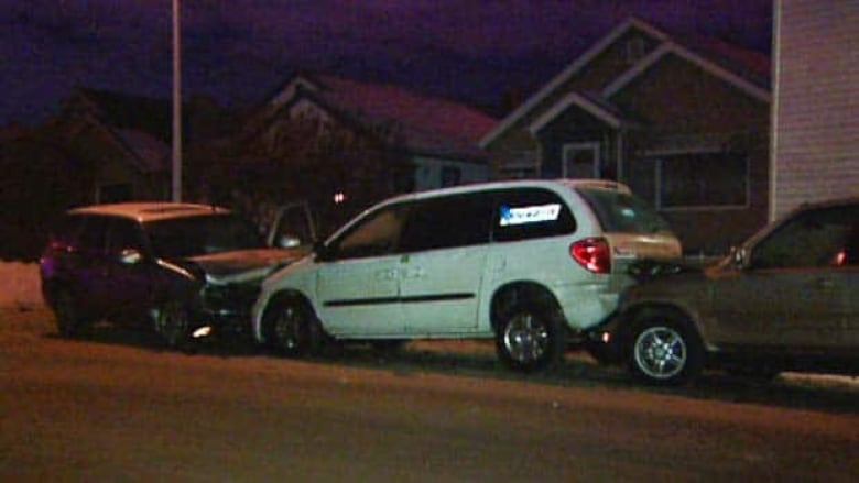 Suspected impaired driver hits taxi, police car   CBC News
