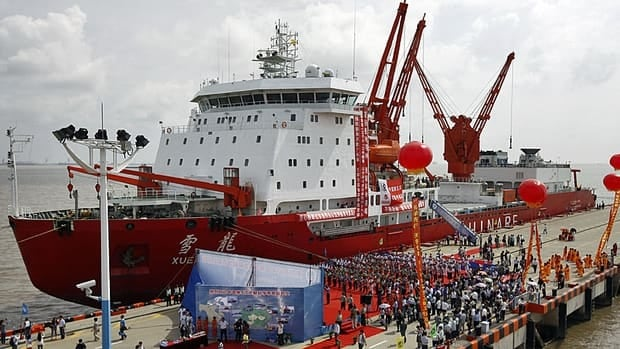 The Chinese icebreaker Xuelong, or Snow Dragon, docked Thursday in Shanghai, after an 85-day scientific quest across the Arctic Ocean.
