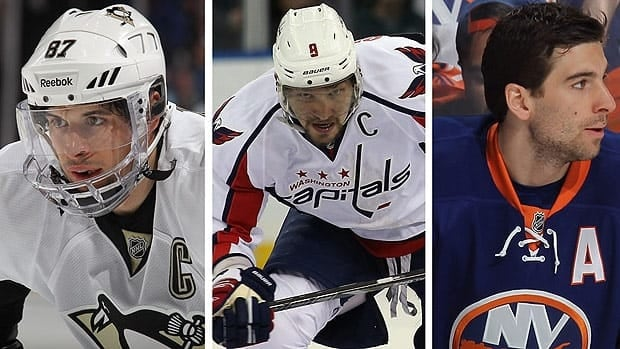 Sidney Crosby, Alex Ovechkin and John Tavares were named finalists for the Hart Trophy on Monday.