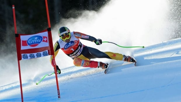 Manuel Osborne-Paradis, shown here competing earlier this month in Norway, won the Canadian men's downhill title in Whistler on Saturday.