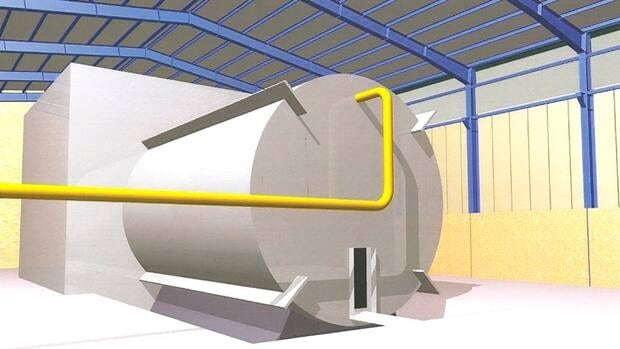 This undated rendering - said to come from inside Iran's Parchin military site and obtained by The Associated Press from an official of a country tracking Iran's nuclear activities - shows a chamber of the type needed for nuclear arms-related tests that UN inspectors suspect Tehran has conducted at the site.