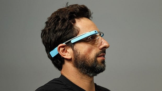 Sergey Brin, the CEO and co-founder of Google, wears a Google Glass during a product demonstration Wednesday during Google I/O 2012 at Moscone Center in San Francisco.