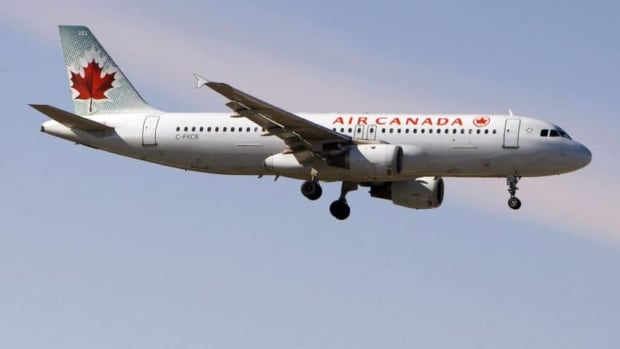 Air Canada's shares fell 14 per cent or 42 cents at $2.58 in morning trading on the Toronto Stock Exchange after the airline reported preliminary results that included a bigger loss than investors expected.