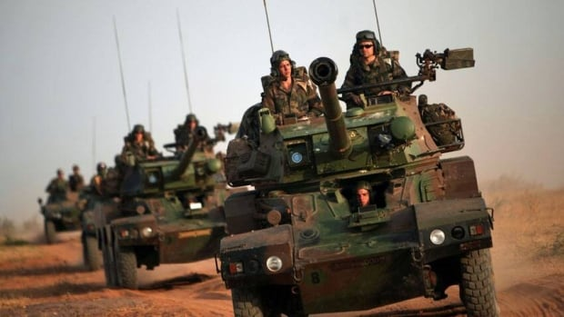 French forces, including these soldiers in armoured vehicles on the outskirts of Sevare, Mali, are helping to oust Islamic extremists in the country's north.