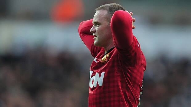 Wayne Rooney strained a ligament behind the knee when he tried to hit a volley late in practice on Dec. 25.
