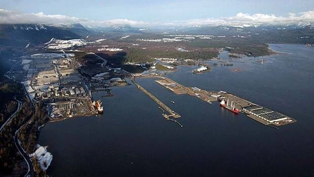 The proposed Northern Gateway pipeline would end at Kitimat, B.C., where oil would be loaded onto tankers,