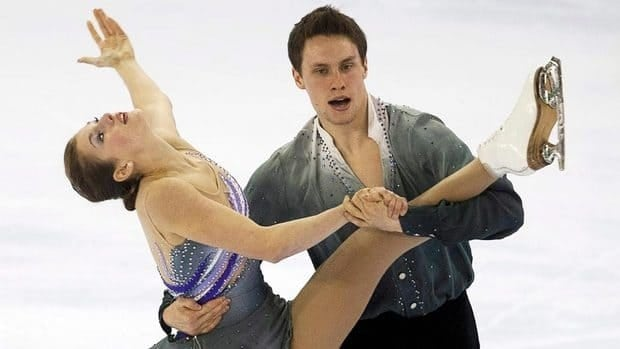 Margaret Purdy and Michael Marinaro perform their free program in the senior pair's competition at the Canadian figure skating championships in Moncton, N.B. on Saturday, Jan. 21, 2012.
