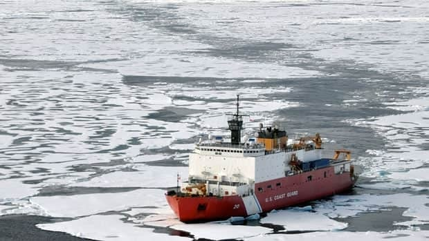 In this Aug. 24, 2009 picture provided by the U.S. Coast Guard, the U.S. Coast Guard Cutter Healy breaks ice ahead of the Canadian Coast Guard Ship Louis S. St-Laurent in the Arctic Ocean.
