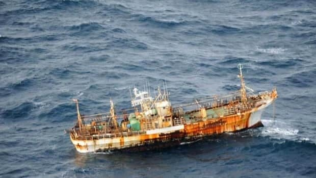 The 50-metre boat was spotted by a patrol aircraft off the coast of Haida Gwaii, B.C.