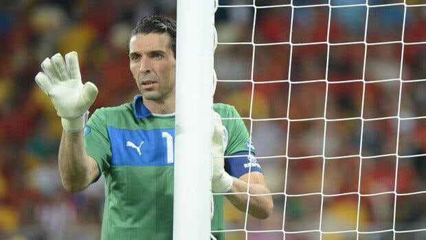 Gianluigi Buffon needs 16 more caps to match Fabio Cannavaro's Italian record of 136.