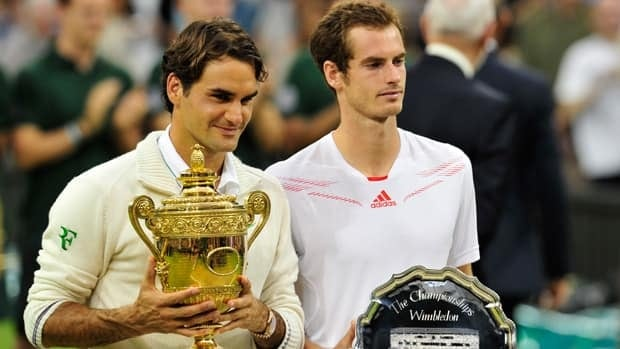 Roger Federer won another Wimbledon title in 2012 at the expense of Andy Murray.