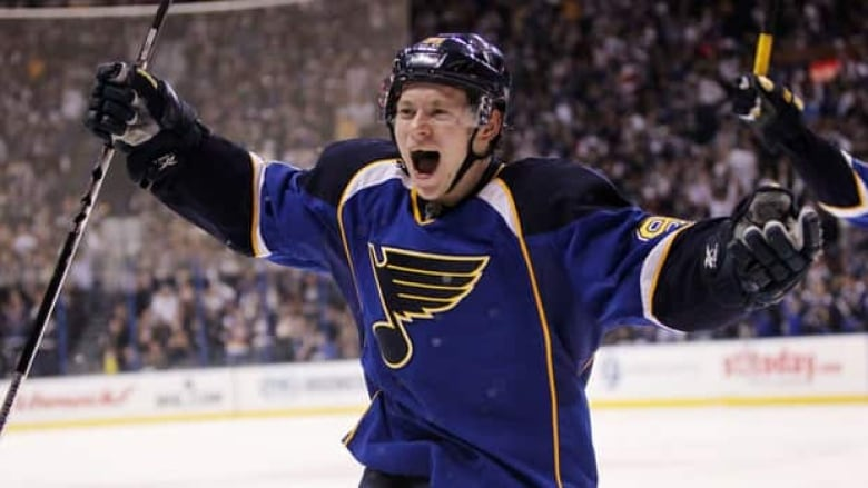 f0c2e15f5 St. Louis Blues rookie Valdimir Tarasenko scored on his first two NHL shots  in a 6-0 victory over Detroit on Jan. 19.