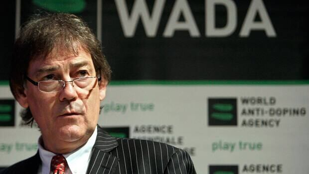 In this file photo from Feb. 27, 2008, David Howman speaks during a WADA Media Symposium at the Olympic Museum in Lausanne, Switzerland.