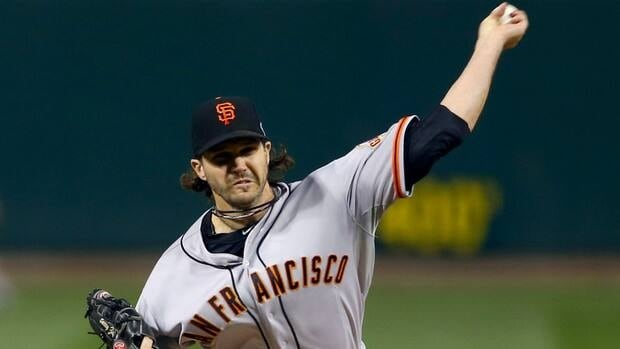 San Francisco Giants pitcher Barry Zito went 15-8 this season for his team.