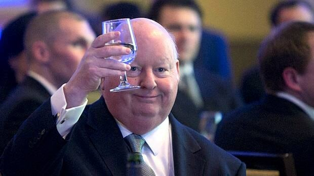 Election spending records show Senator Mike Duffy campaigned with Prime Minister Stephen Harper in the Northwest Territories during the 2011 election, while also claiming he was on Senate business.